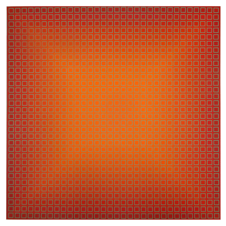 Fliration Eleven — Red + Green, 1977, 33 x 33, ed. 12