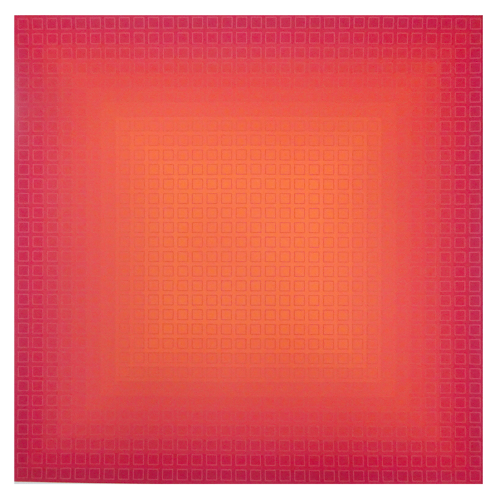 Fliration Eleven — Red + Red, 1977, 33 x 33, Ed. 12