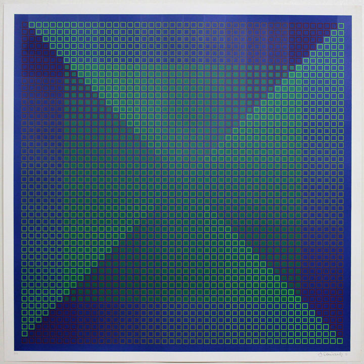 Composite Blue with Green, 1981, 30x30, Ed. 50