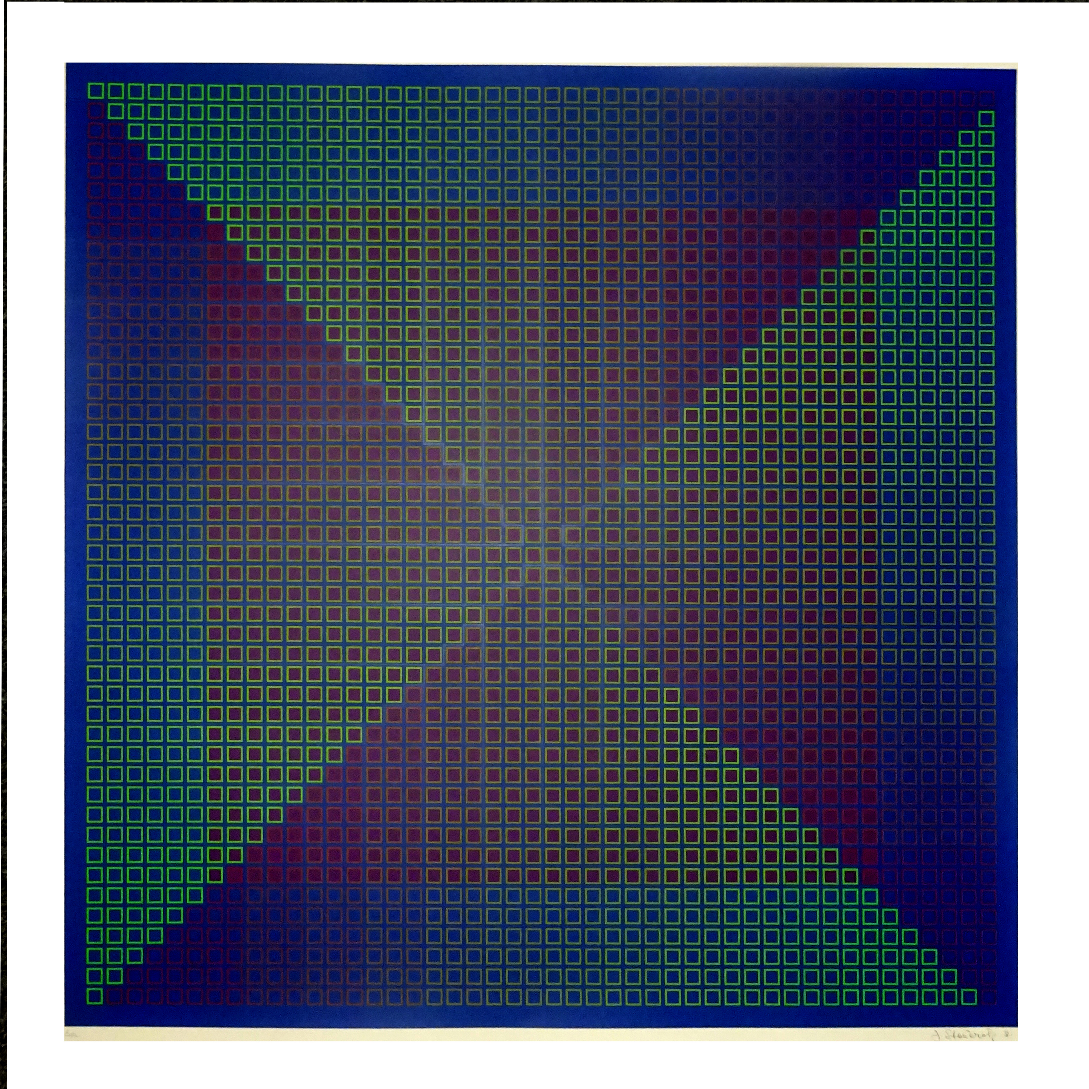 Composite Blue with Purple, 1981, 30x30, Ed. 45