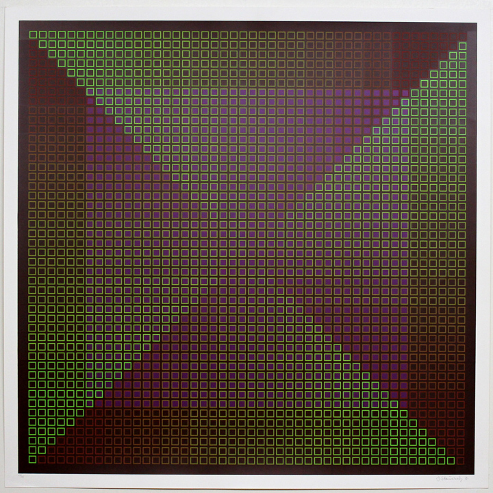 Composite Brown with Purple, 1981, 30x30, Ed. 45