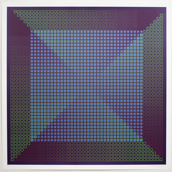 Composite Purple with Blue, 1981, 30x30, Ed. 30