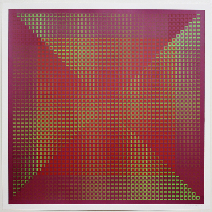Composite Red with Red, 1981, 30x30, Ed. 40