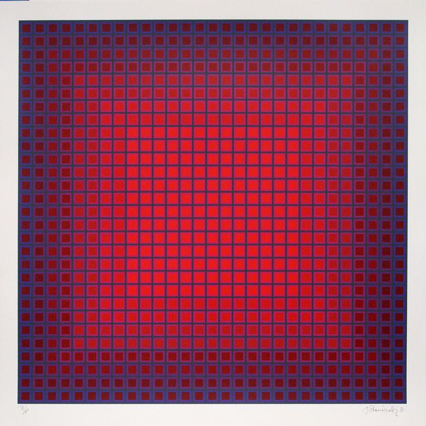 Compounded Red, 1981, 24x24, Ed. 175