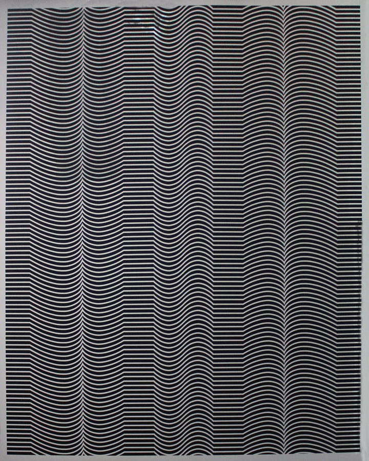 Epode, 1973, 40 x 32, Black on Silver, Ed. 30