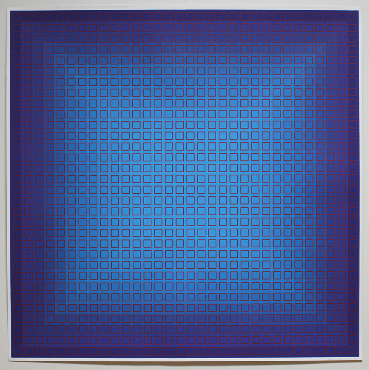 Fliration Eleven — Blue + Red, 1977, 34 x 34