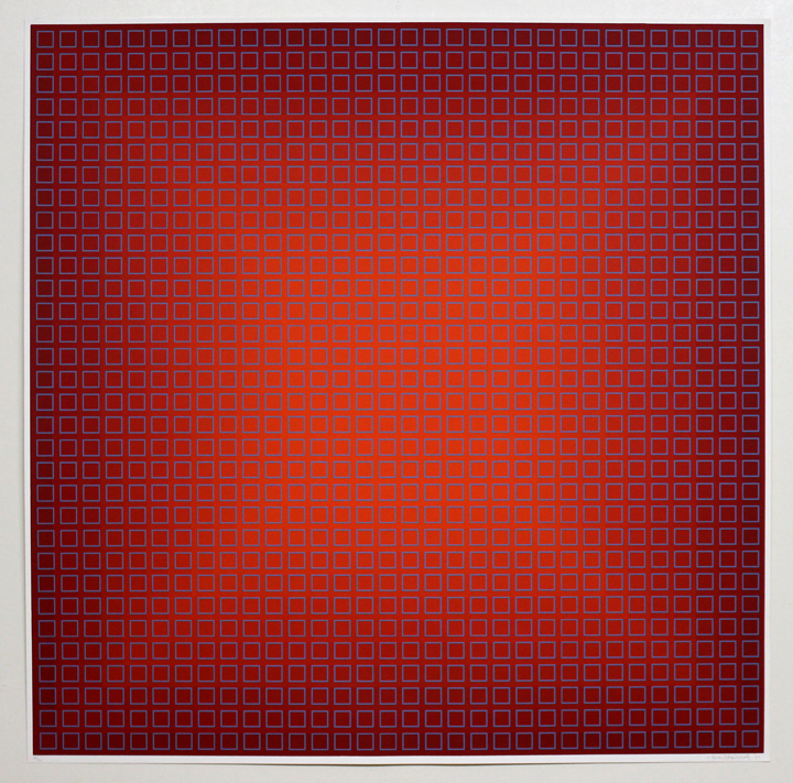 Fliration Eleven — Red + Blue, 1977, 34 x 34
