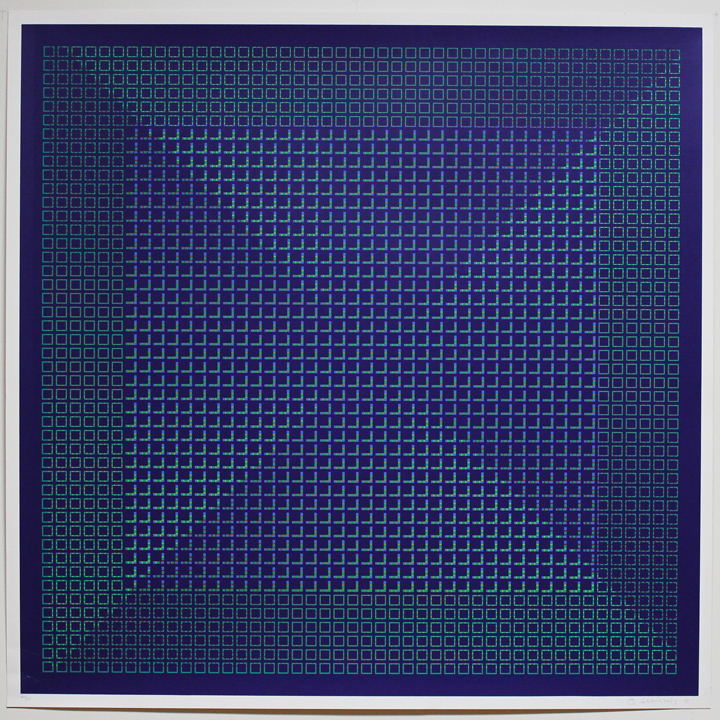 Nocturnal Hue Cool Blue, 1981, 30x30, Ed. 25