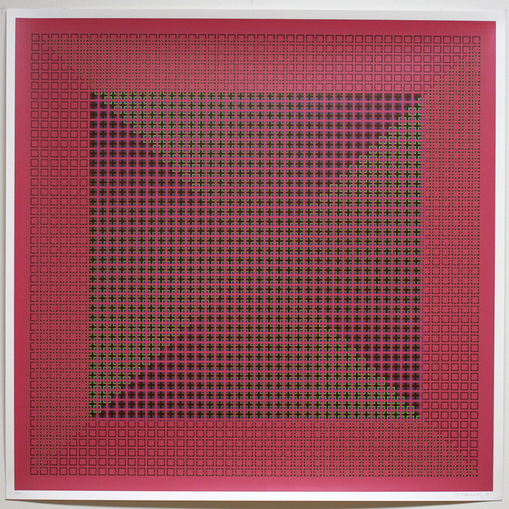 Sequential System Pink, 1981, 30x30, Ed. 25