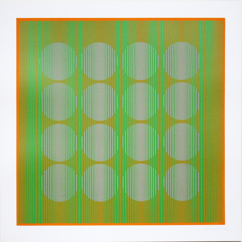 16 Circles in Green, 1970, 25 x 25