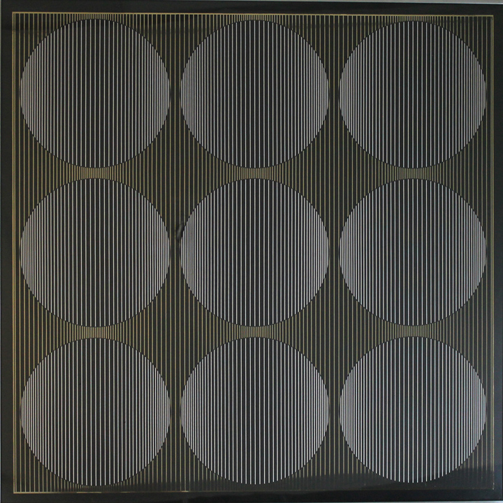 Solar Gold, 1973, 36 x 36, Black and White on Gold, Ed. 30